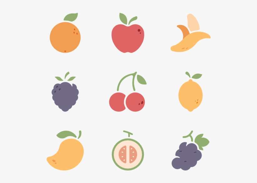 Fruits And Vegetables Icons - Fruit Icon Png, transparent png #568534
