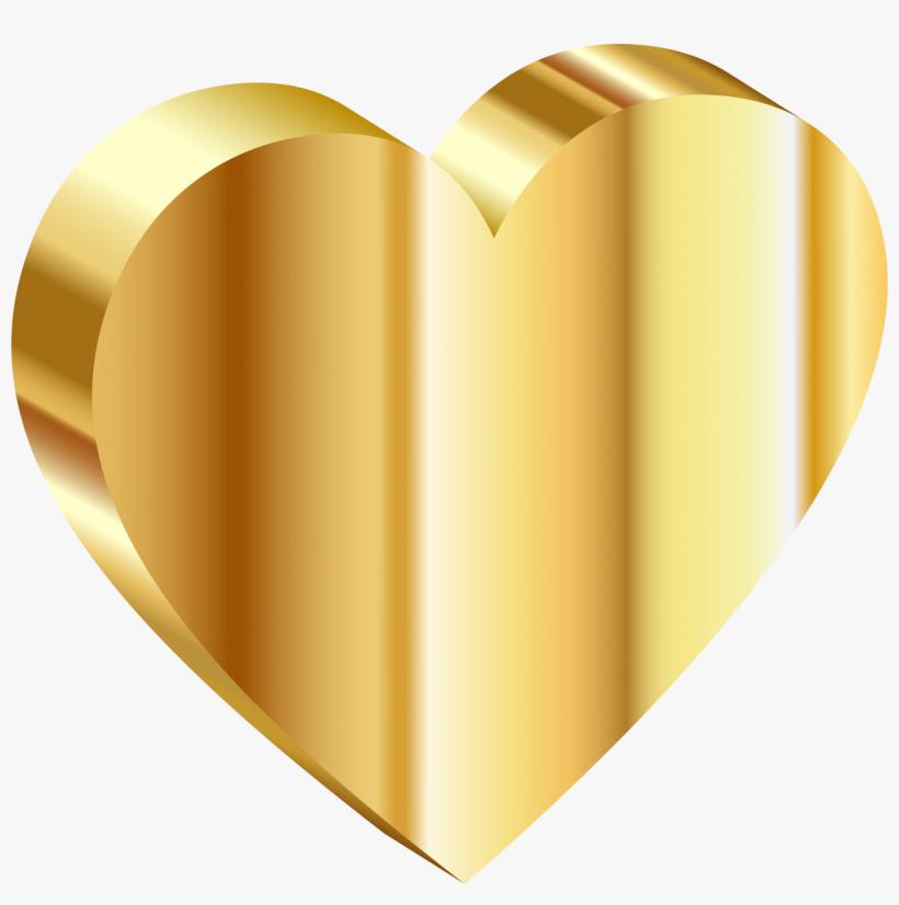 Free Png Gold Heart Png Images Transparent - Heart Of Gold Emoji, transparent png #569671