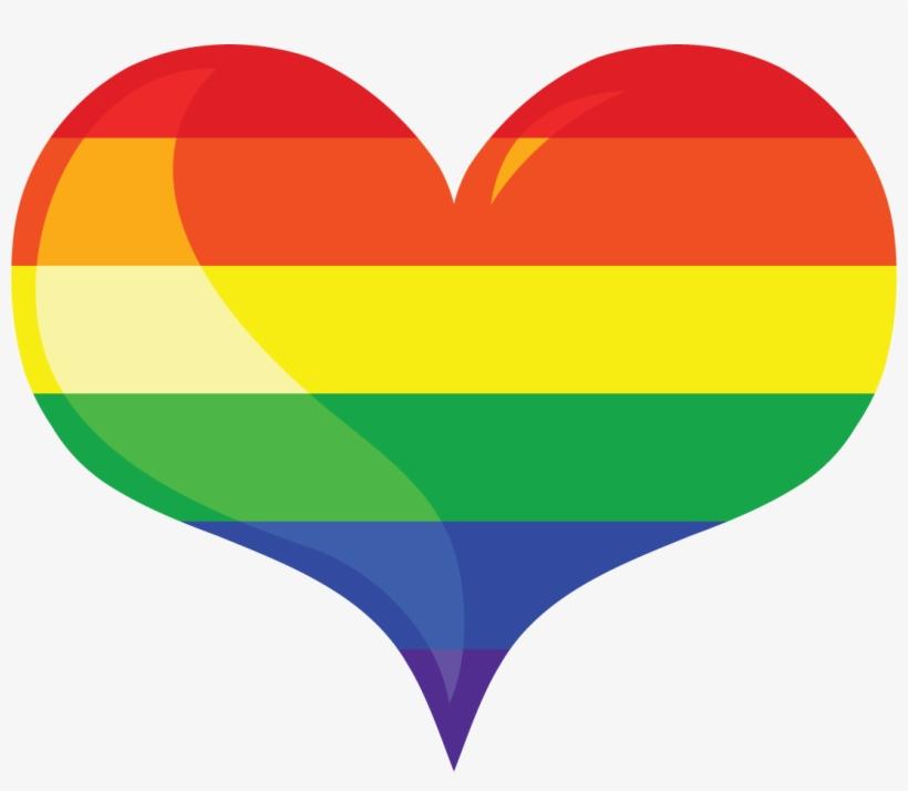 Images For Equal Symbol Clip Art - Free Rainbow Heart Clip Art, transparent png #569870