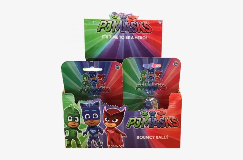 Pj Masks 3 Pack Bouncy Balls - Pj Masks-disney Junior Pj Masks 'into, transparent png #5602941