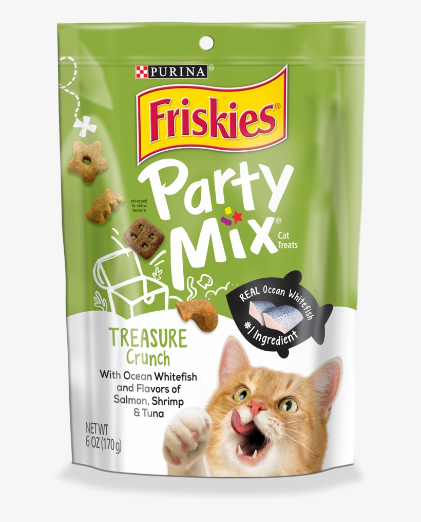 Party Mix Treasure Crunch - Purina Friskies Flaked With Tuna Cat Food 156 G, transparent png #5612599