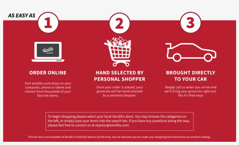 Get Free Pick Up On Your Sendik's Express Order - Our Services Page For Online Shopping, transparent png #5614097
