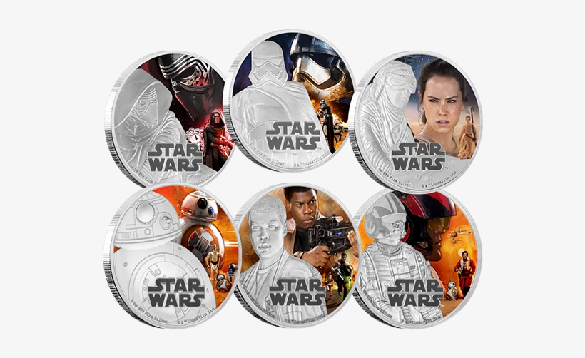 Fine Silver Six-coin Subscription Star Warstm - Star Wars Coins Royal Mint, transparent png #5632427