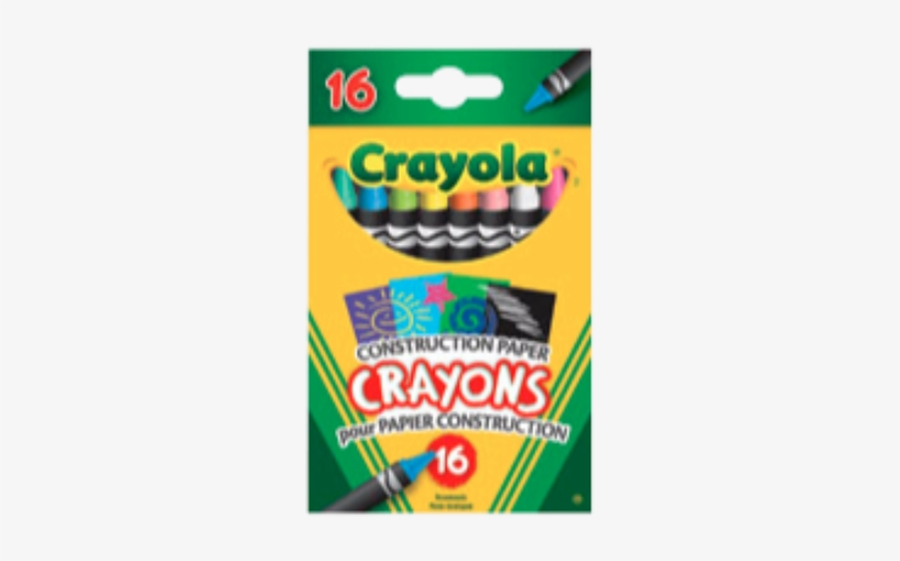Crayola® Contstruction Paper Crayons Assorted Colours - Classic Colour Pack Crayons, 16 Count, transparent png #5633769