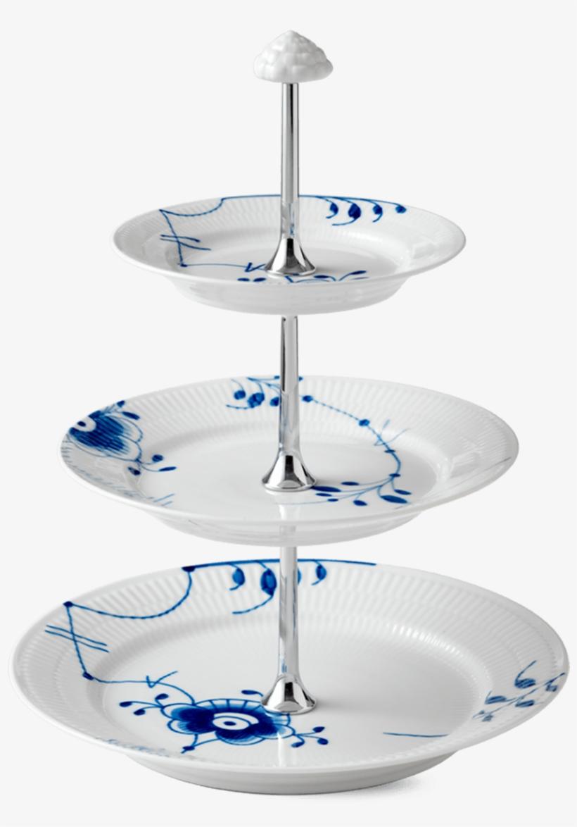Etagere - Royal Copenhagen Blue Fluted Mega 3 Tier Etageres, transparent png #5636909