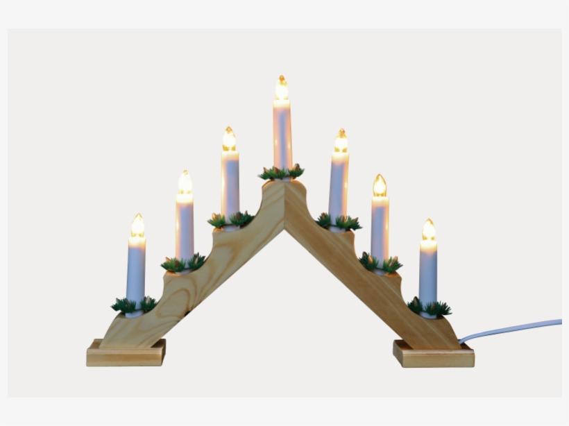Pine Static 7 Bulb Candle Bridge - Christmas Candle Bridge, transparent png #5641267