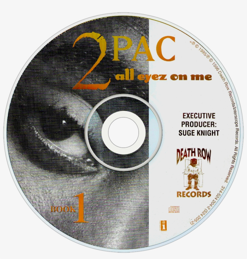 2pac All Eyez On Me Cd Disc Image, transparent png #5655740