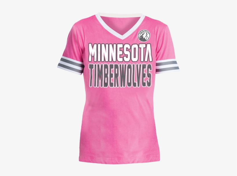 Minnesota Timberwolves Youth Girls Baby Jersey V Neck T Shirt