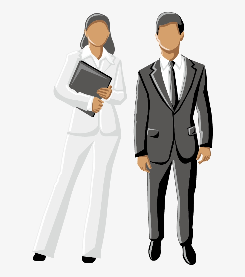 Men Clipart Business Woman - Business Man And Woman Clipart, transparent png #5671953