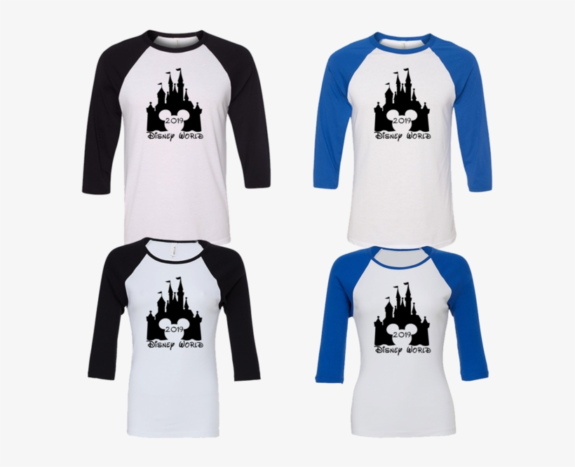 Walt Disney World 2019 Matching Family Vacation 3/4 - Disney Castle Mickey Shirt, transparent png #5675498