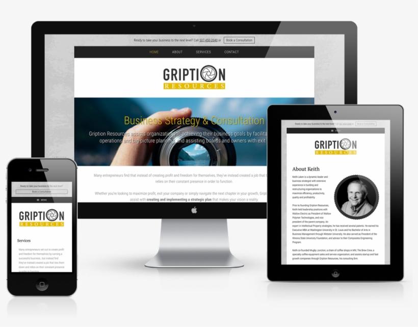 Gription Resources Mobile Responsive Website Design - Responsive Web Design, transparent png #5675502