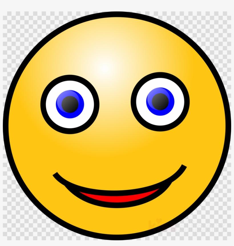 Smiley Face Blue Eyes Clipart Smiley Emoticon Clip - Smiley Face With Blue Eyes, transparent png #5677717