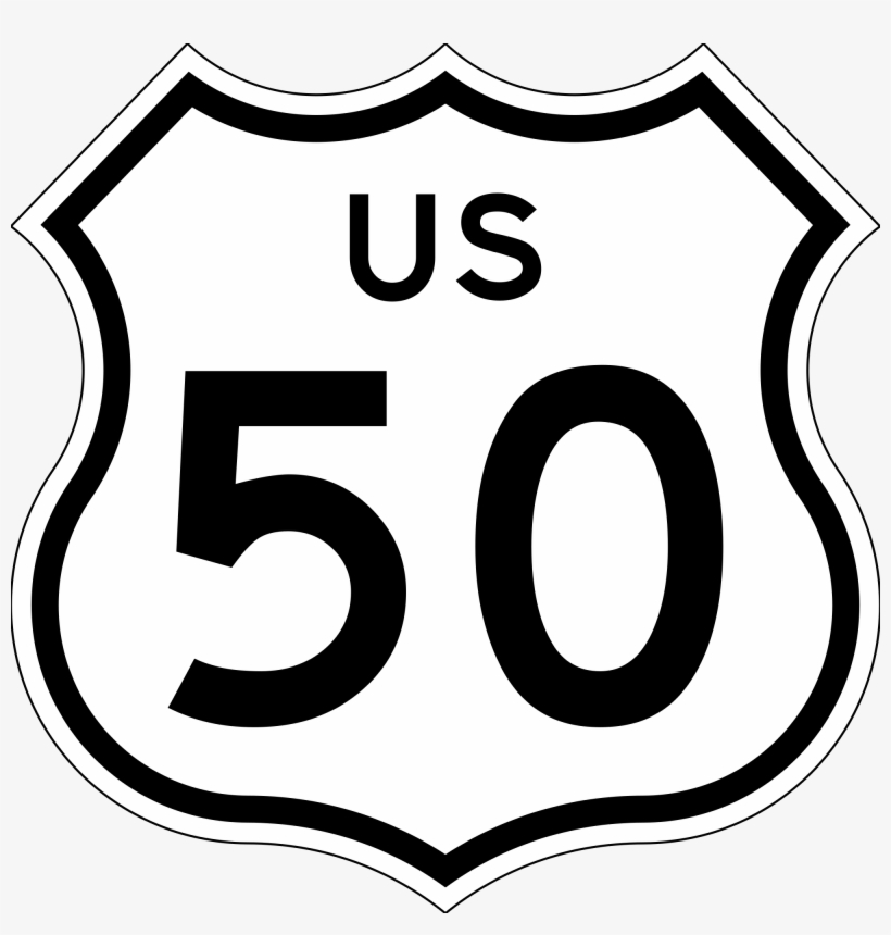 Highway 50 Crash Kills Two In Clay County - Us Route 50 Sign, transparent png #5684411