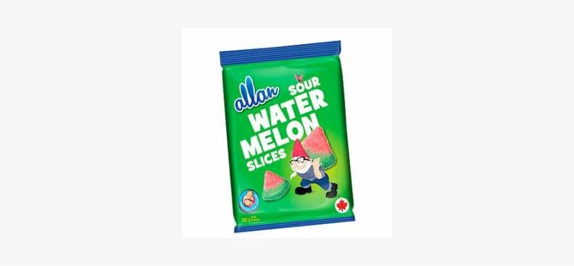 Allan Sour Watermelon Flavoured Slices - Allan Sour Watermelon Slices Gummy Candy 5 Oz. Bag, transparent png #5684593
