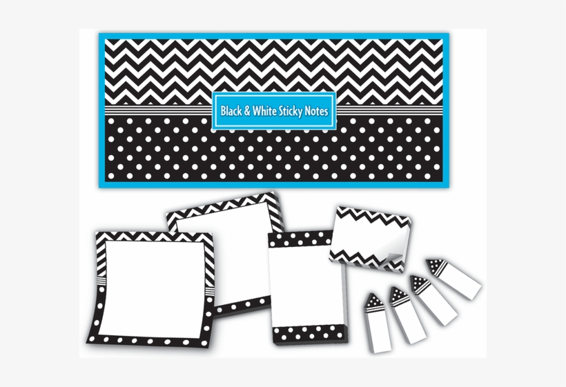 Black & White Sticky Notes - Post-it Note, transparent png #5691002