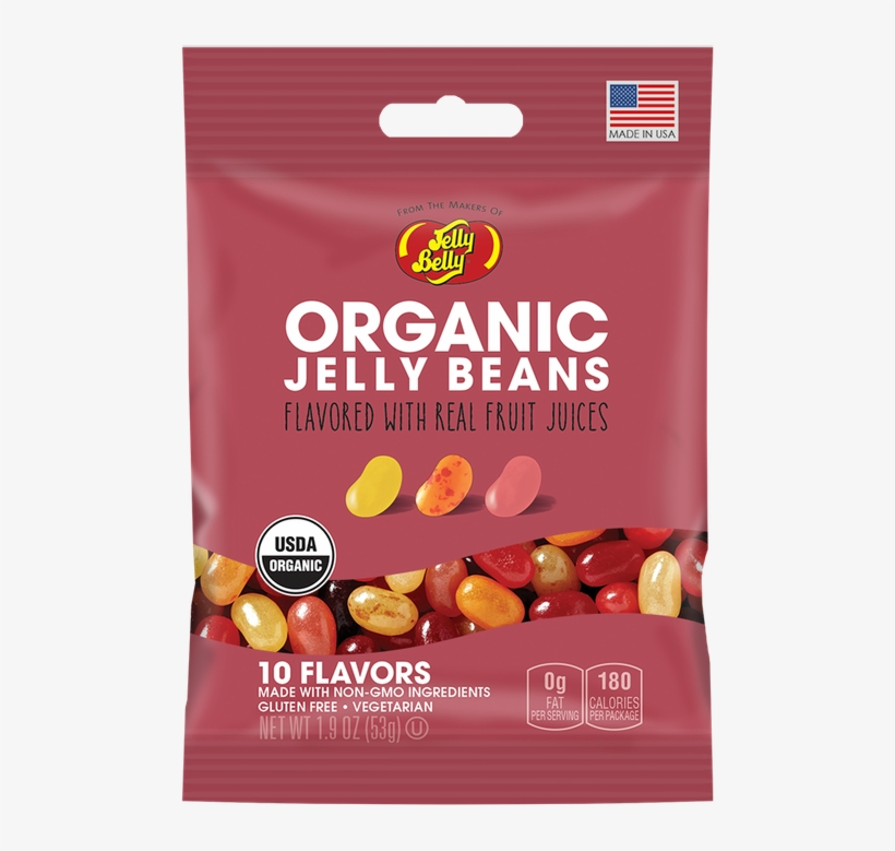 Jelly Belly Organic Jelly Beans - 10 Flavor - 5.5 Oz, transparent png #5695762