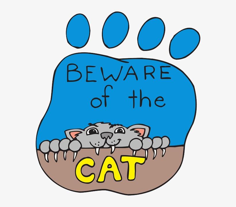 Cat, Print, Cartoon, Paw, Pet, Animal, Claws, Beware - Cartoon Cat Clawing, transparent png #570395