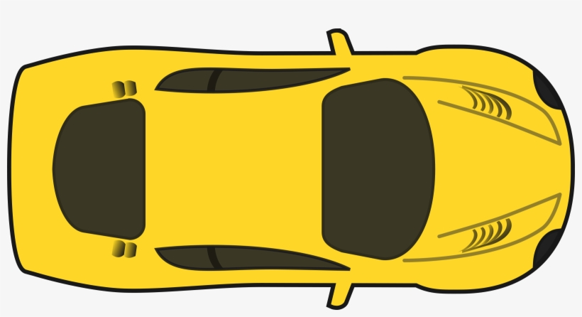 Yellow Racing Car Car Clipart Top View Png Free Transparent Png