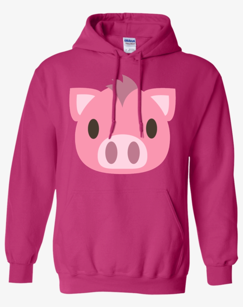 Pig Face Emoji Hoodie - Queens Born On October 23, transparent png #572760
