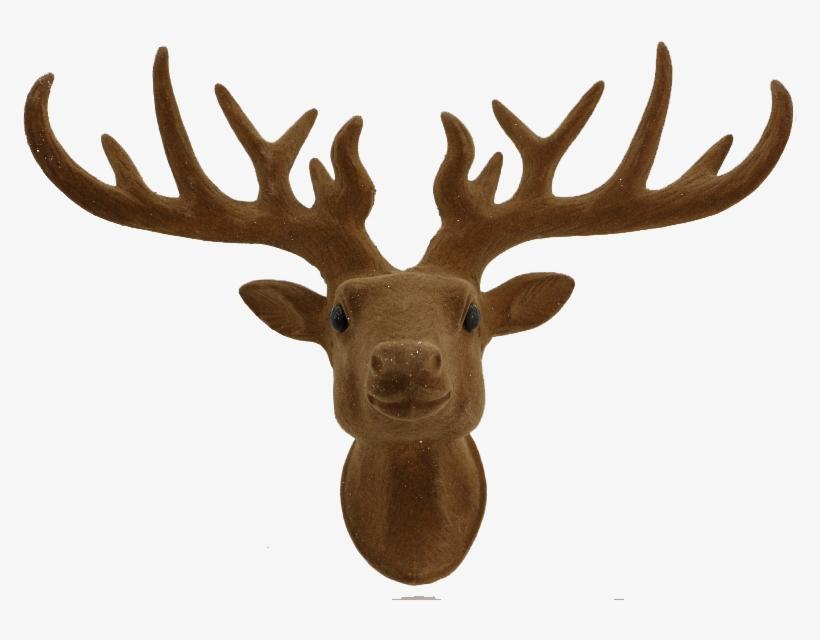 Franky Felt Reindeer Ornament - Pair 13.25 Inch Christmas Faux Deer Head Decorations, transparent png #573325