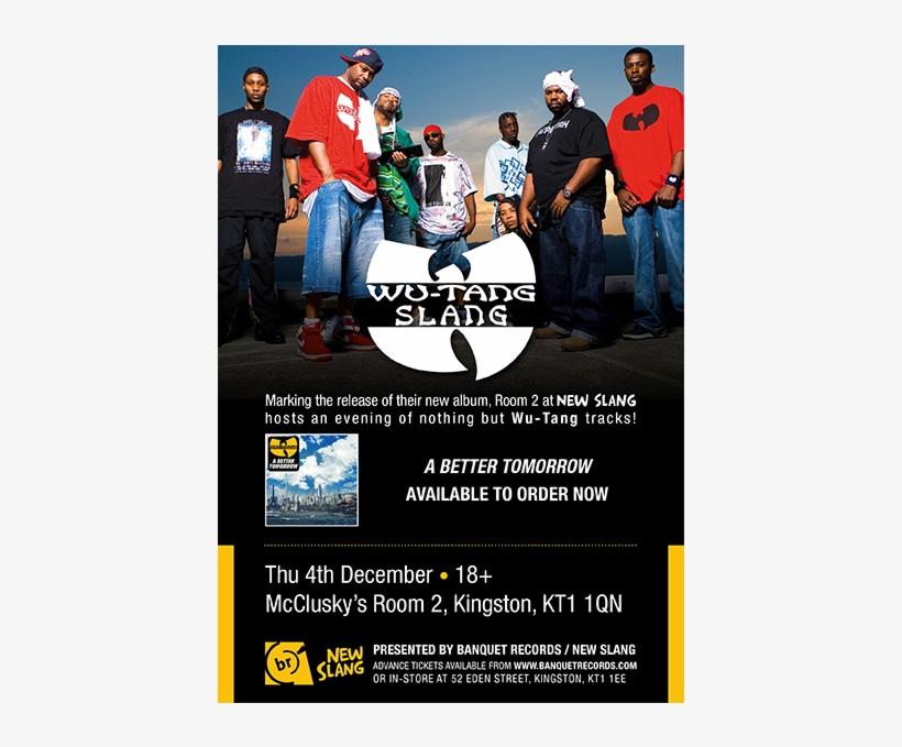 Thursday 4th December At Room 2 At New Slang - Wu Tang Clan, transparent png #573952