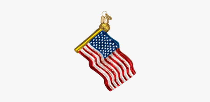 American Flag - Old World Christmas Star-spangled Banner Glass Ornament, transparent png #576333