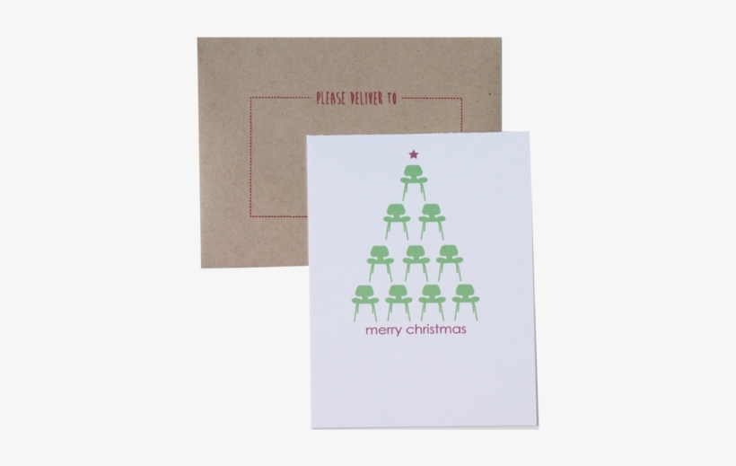 Modern Christmas Card Holiday Cards Eames Chair Card - Interior Design Christmas Cards, transparent png #576365