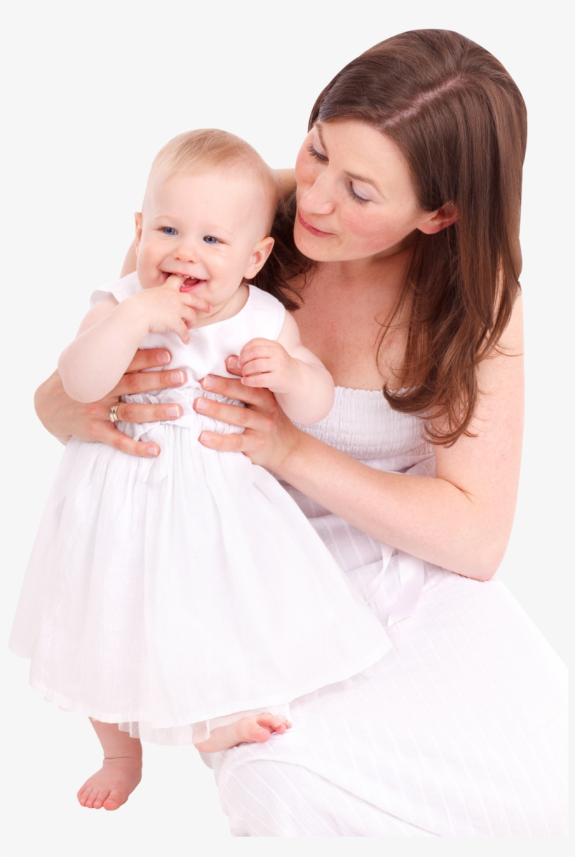 Happy Loving Mother And Her Baby Png Image - Mother And Baby Png, transparent png #577269