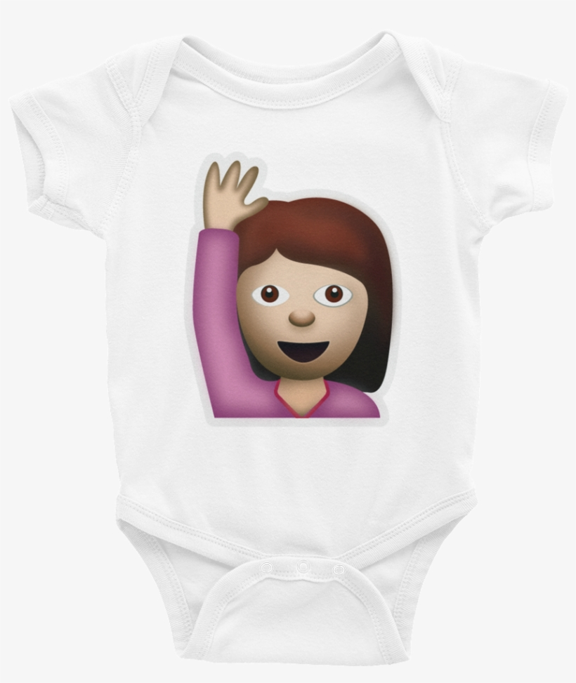 Emoji Baby Short Sleeve One Piece - Happy Person Raising One Hand, Face With Ok Gesture,, transparent png #577537