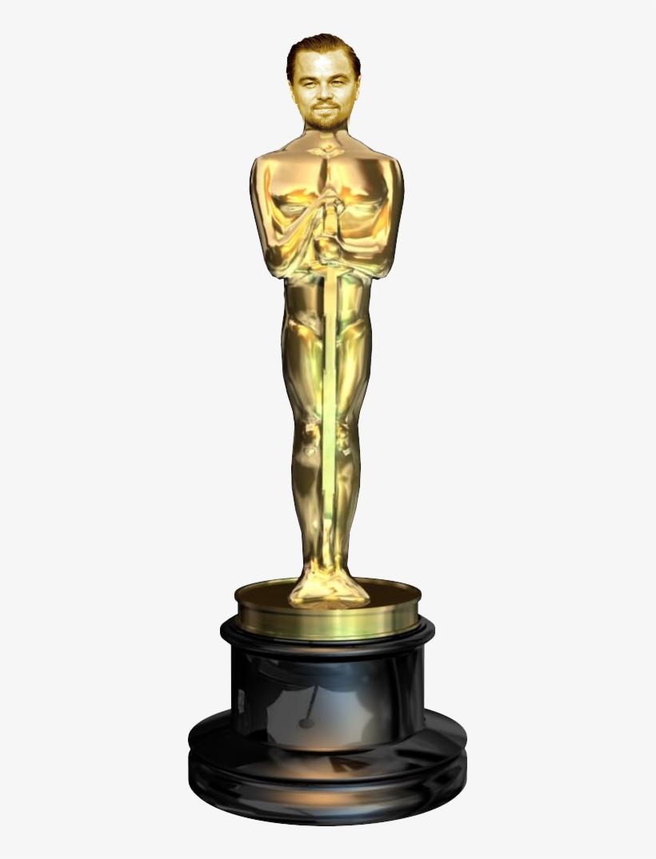 Oscar Award Trophy Png - Leonardo Di Caprio Oscar Png, transparent png #577684