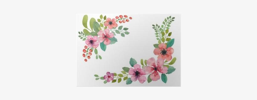 Watercolor Floral Border Square, transparent png #578191