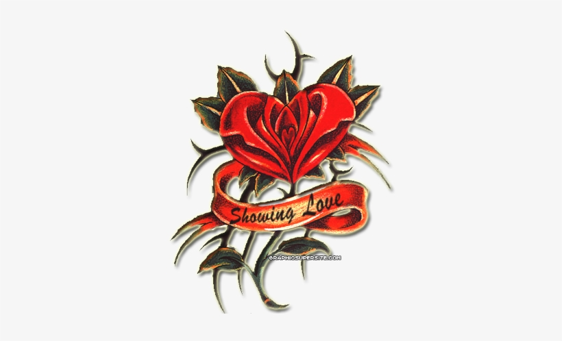 Arm Tattoo Designs Png Cross Tattoos Designs For Men - Rose Heart Tattoo Png, transparent png #579113