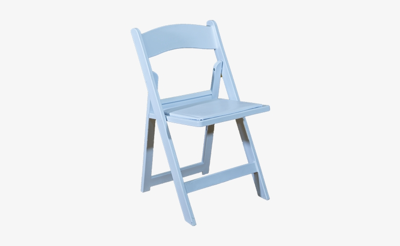 White Padded Chair - Folding Chair, transparent png #5702540