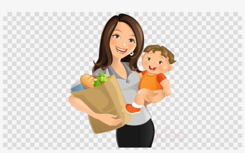 Mom And Son Png Clipart Mother Clip Art - Mother With Baby Clip Art, transparent png #5702911