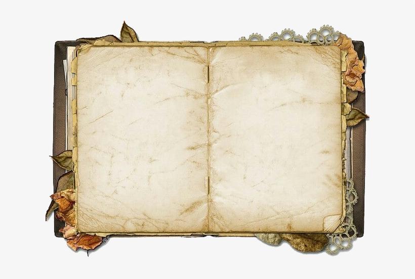Paper Book Clip Art - Vintage Open Book Png, transparent png #5725956