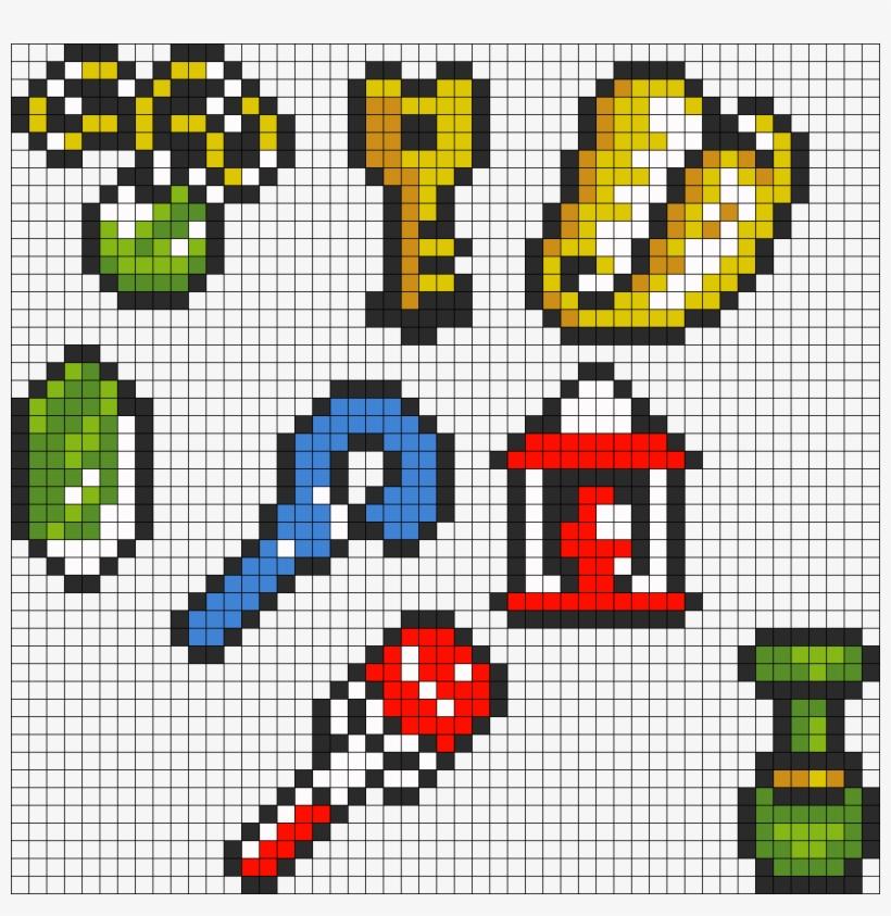 Legend Of Zelda Link To The Past Items Perler Bead Legend