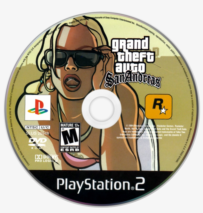 Grand Theft Auto - Grand Theft Auto San Andreas [ps2 Game], transparent png #5757918