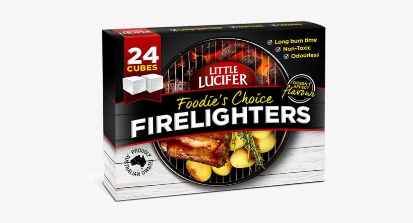 Little Lucifer Firelighters - Little Lucifer Bbq Accessory Fire Starters 24pk, transparent png #5757922