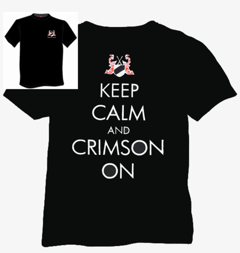 Crimson Crew Short Sleeve Black T Shirt - Black Short Sleeved T Shirt, transparent png #5763190