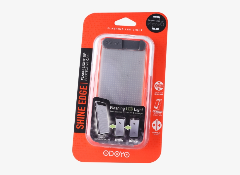 Shineedge Flash Light Up For Iphone 6 / 6s - Odoyo Flashing Case For Iphone 6 - Neon Pink, transparent png #5773511