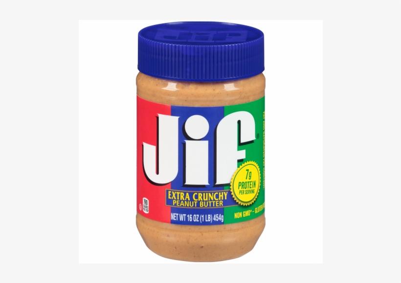 Jif Crunchy Peanut Butter, 16 Ounce 12 Per Case - Jif Peanut Butter Creamy 16 Oz, transparent png #5775318