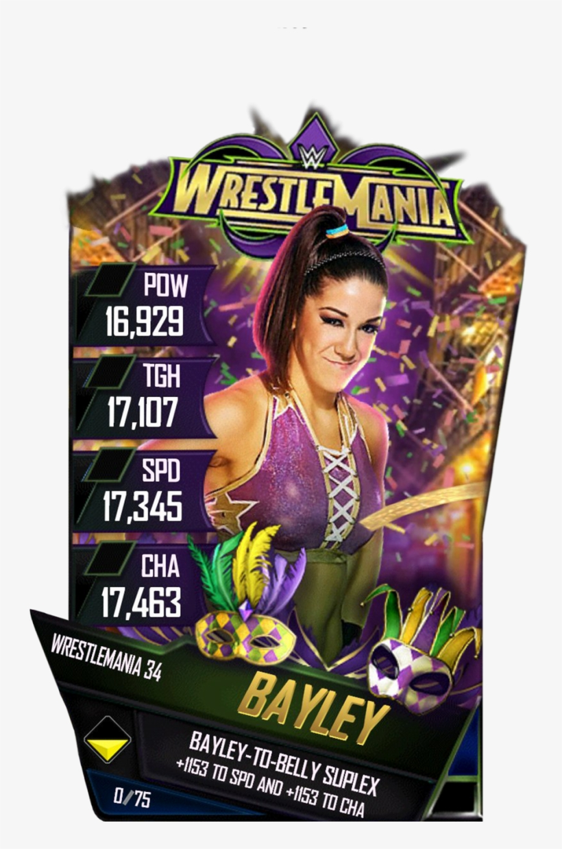 Bayley S4 19 Wrestlemania34 - Wwe Wrestlemania Xxvii (2011), transparent png #5788140