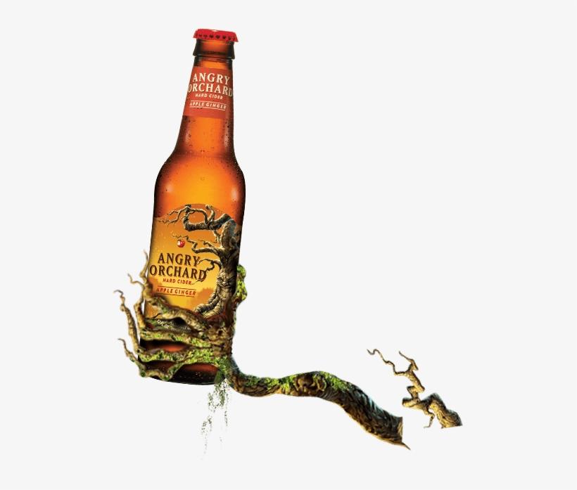 Angry Orchard Apple Ginger - Hard Core Golden Hard Cider - 12 Fl Oz Bottle, transparent png #5794397