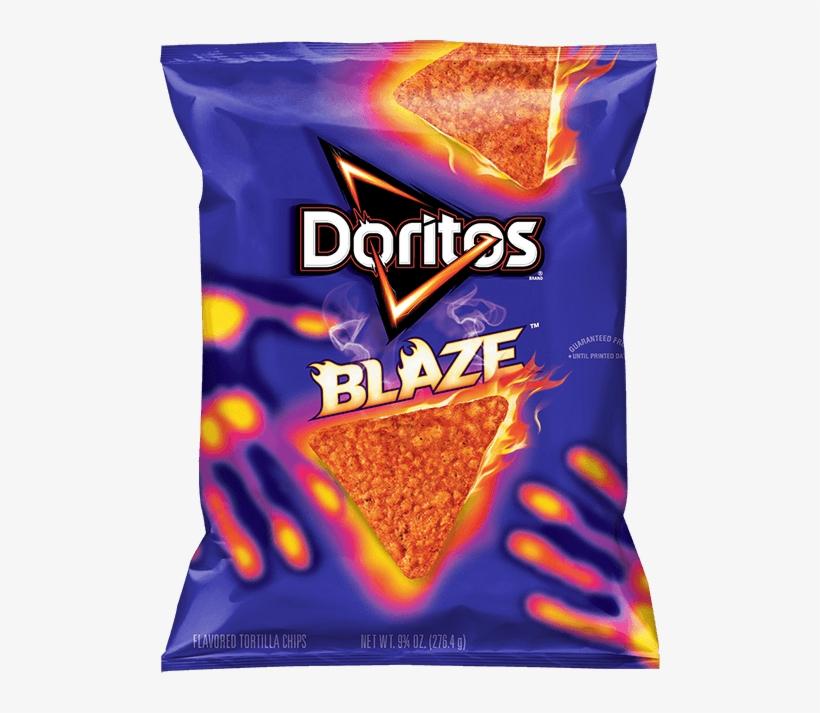 Doritos® Blaze™ Flavored Tortilla Chips - New Doritos Blaze, transparent png #580455