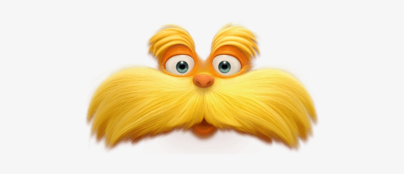 It's just an image of Printable Lorax Mustache and Eyebrows pertaining to cartoon