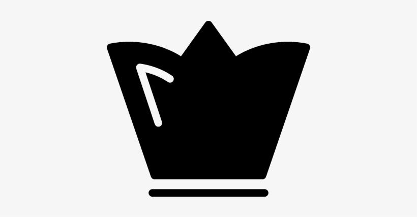 King Royal Tall Black Crown Design Vector Coronas Blanco Y Negro