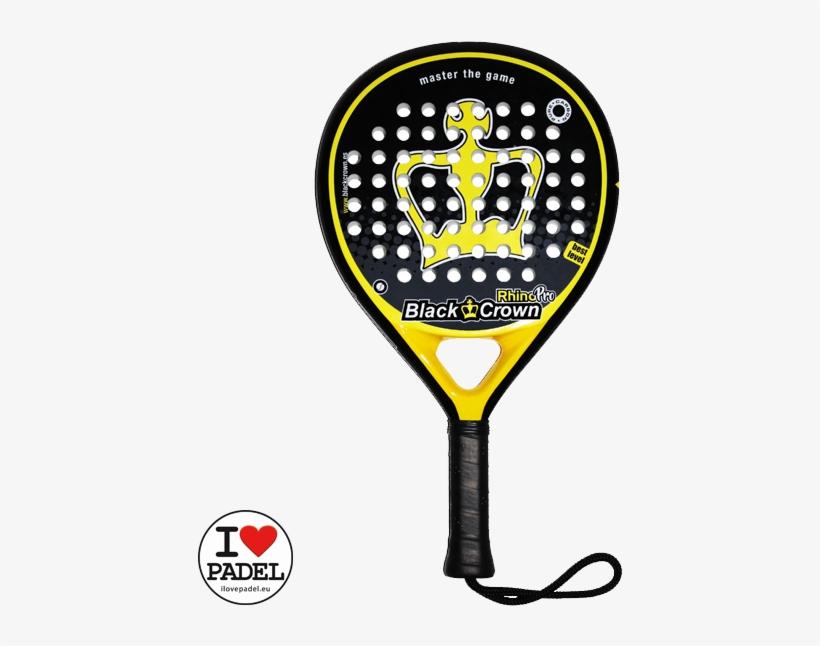Black Crown Rhino Pro Padel Racket Best Deal At I Love - Padel Rackets Shop, transparent png #581166