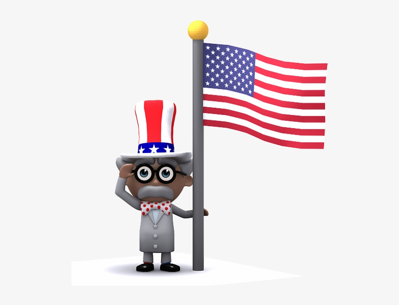 Pump Products Mascot Professor Pumphead With An American - American Flag, transparent png #583034