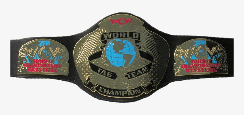 Nwjh8ei - Wcw Tag Team Championship Belts, transparent png #583338