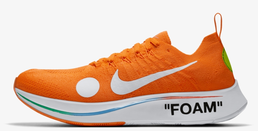Image Of Nike Off White Zoom Fly Mercurial - Nike Zoom Fly Off White, transparent png #584677